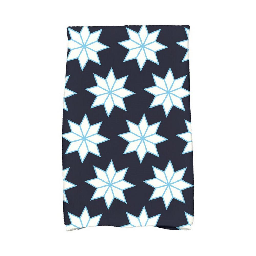Navy Blue Christmas Stars 1 Holiday Geometric Print Kitchen Towel Kthgn667bl14 The Home Depot