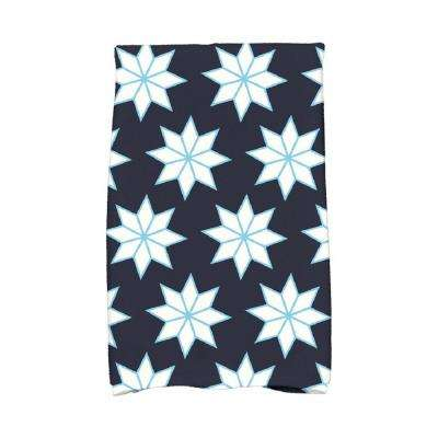 16 in. x 25 in. Navy Blue Christmas Stars-1 Holiday Geometric Print Kitchen Towel