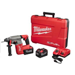 Milwaukee M18 FUEL 18-Volt Lithium-Ion Brushless Cordless 1 inch SDS-Plus Rotary Hammer Kit W/(2) 9.0Ah... by Milwaukee