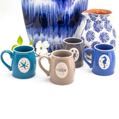 Nautical Ocean 16 oz. 4-Piece Assorted Mug Set