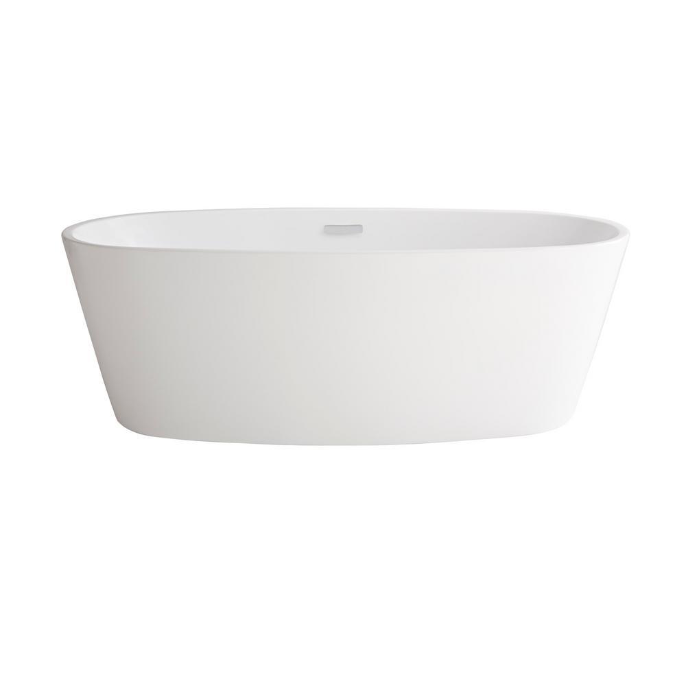 Coastal Serin 68-3/4 in. Acrylic Flatbottom Bathtub in White