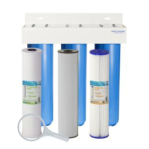 whole house 3stage water filtration system iron sediment and chlorine for multi - Whole House Water Filtration Systems