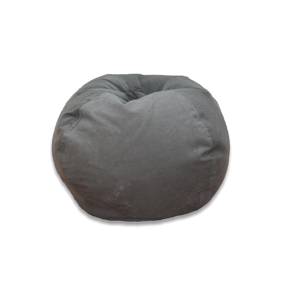 Ace Casual Furniture Vintage Slate Corduroy Bean Bag