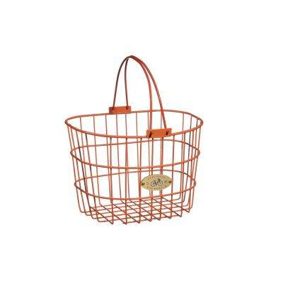 Surfside Adult Wire D-Shape Basket in Orange