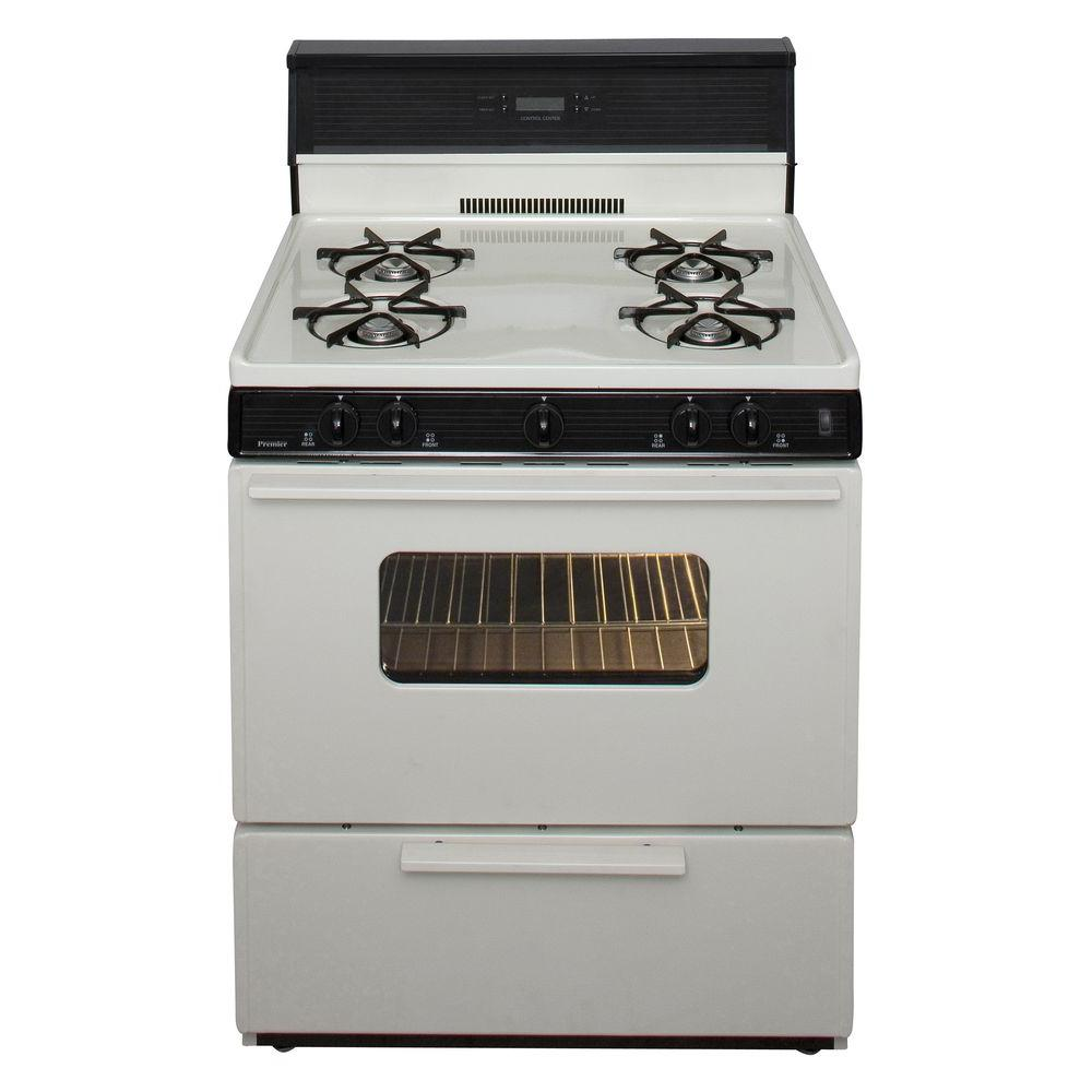 Premier 30 in. 3.91 cu. ft. Gas Range in Biscuit