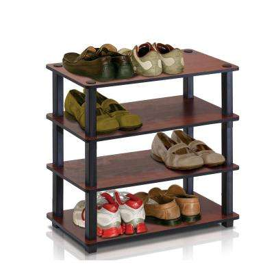 Turn-S-Tube Dark Cherry 4-Shelf Multipurpose Rack