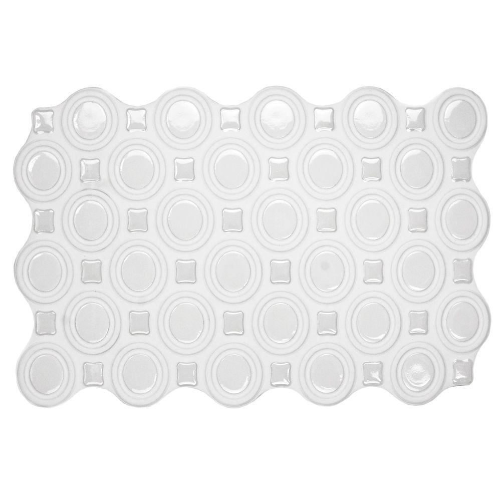 Merola Tile Magna Harmony White 8 in. x 12 in. Ceramic Wall Tile