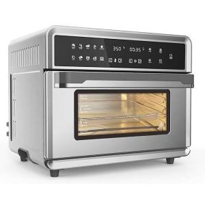 30Qt Touchscreen Air Fryer Toaster Oven with 3 Cooking Levels, Dehydration, Accessories, & Recipe Book