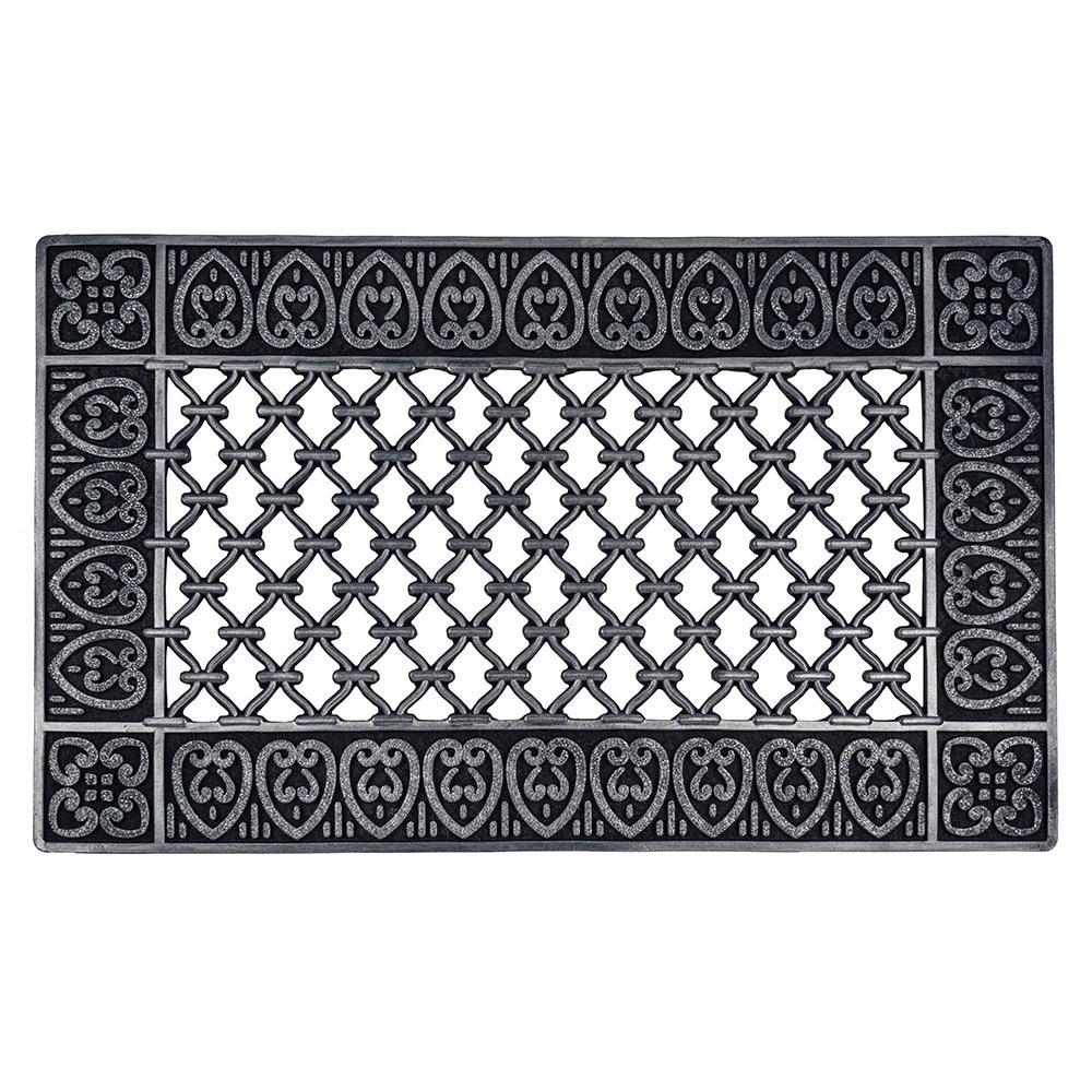 decorative decoration mat spray an images on color mats the pinterest white decor antique painted like best lenatibballs looks rubber ideas iron door