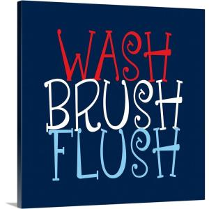 """Wash Brush Flush"" by  Tamara Robinson Canvas Wall Art"