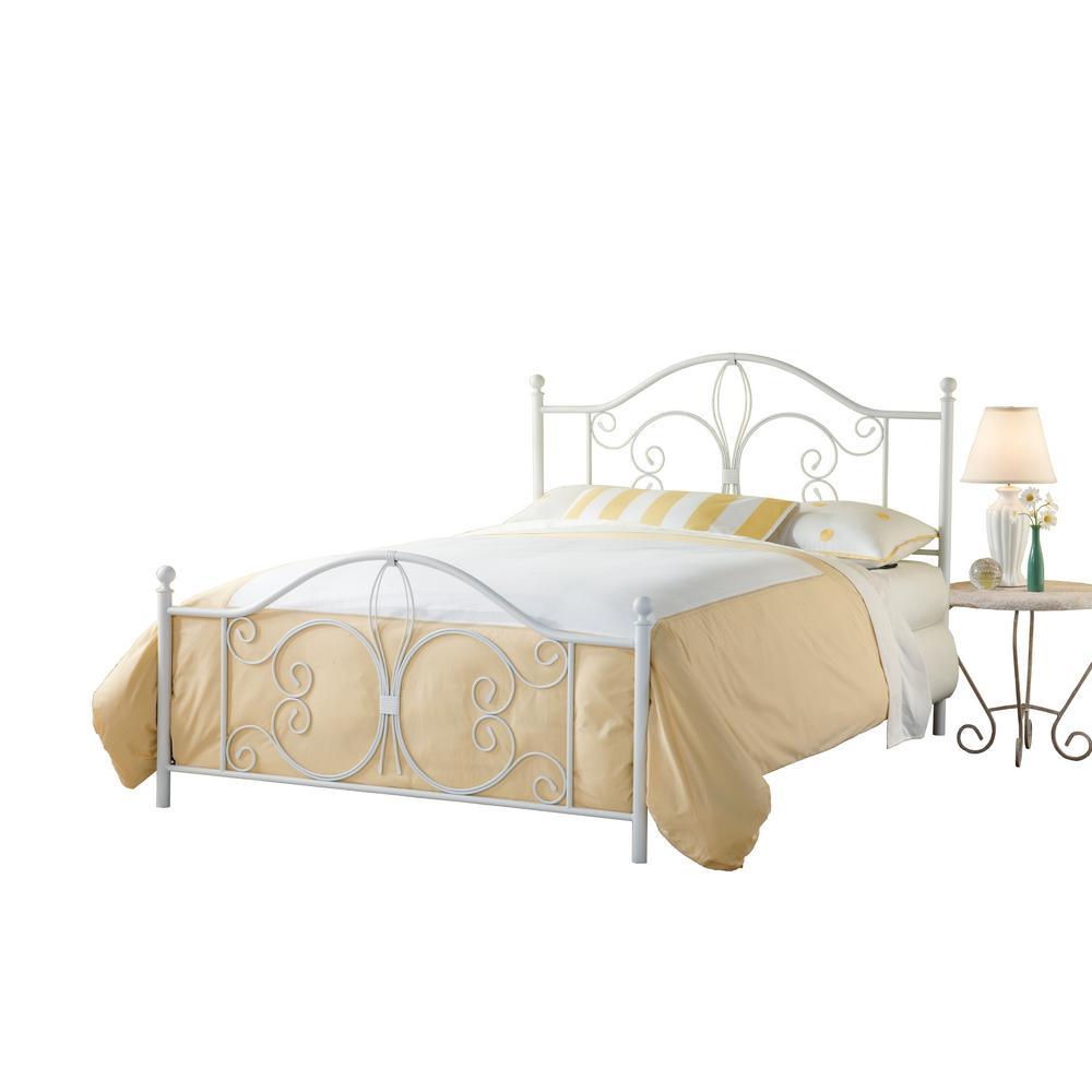 Ruby Textured White Full Bed Set