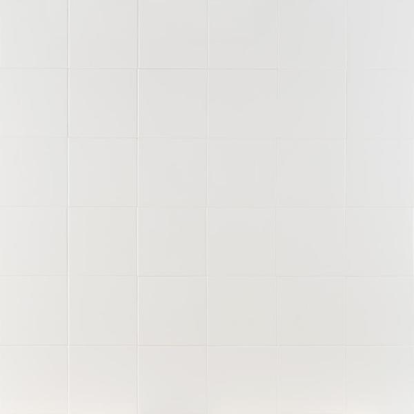 Rai White 7.89 in. x 7.89 in. Polished Porcelain Floor and Wall Tile ( 10.76 sq.ft. / Case)