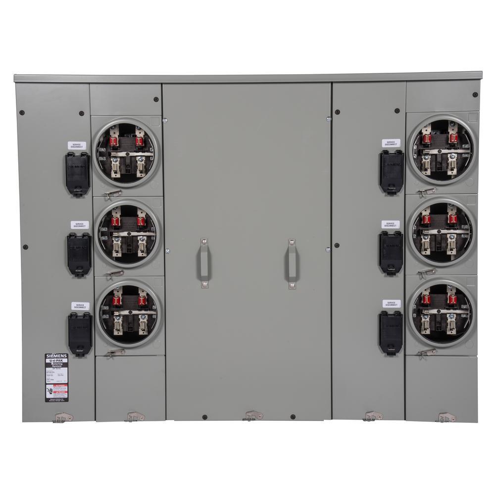 Uni-PAK 6-Gang 1000 Amp Ringless Style Multi-Family Metering