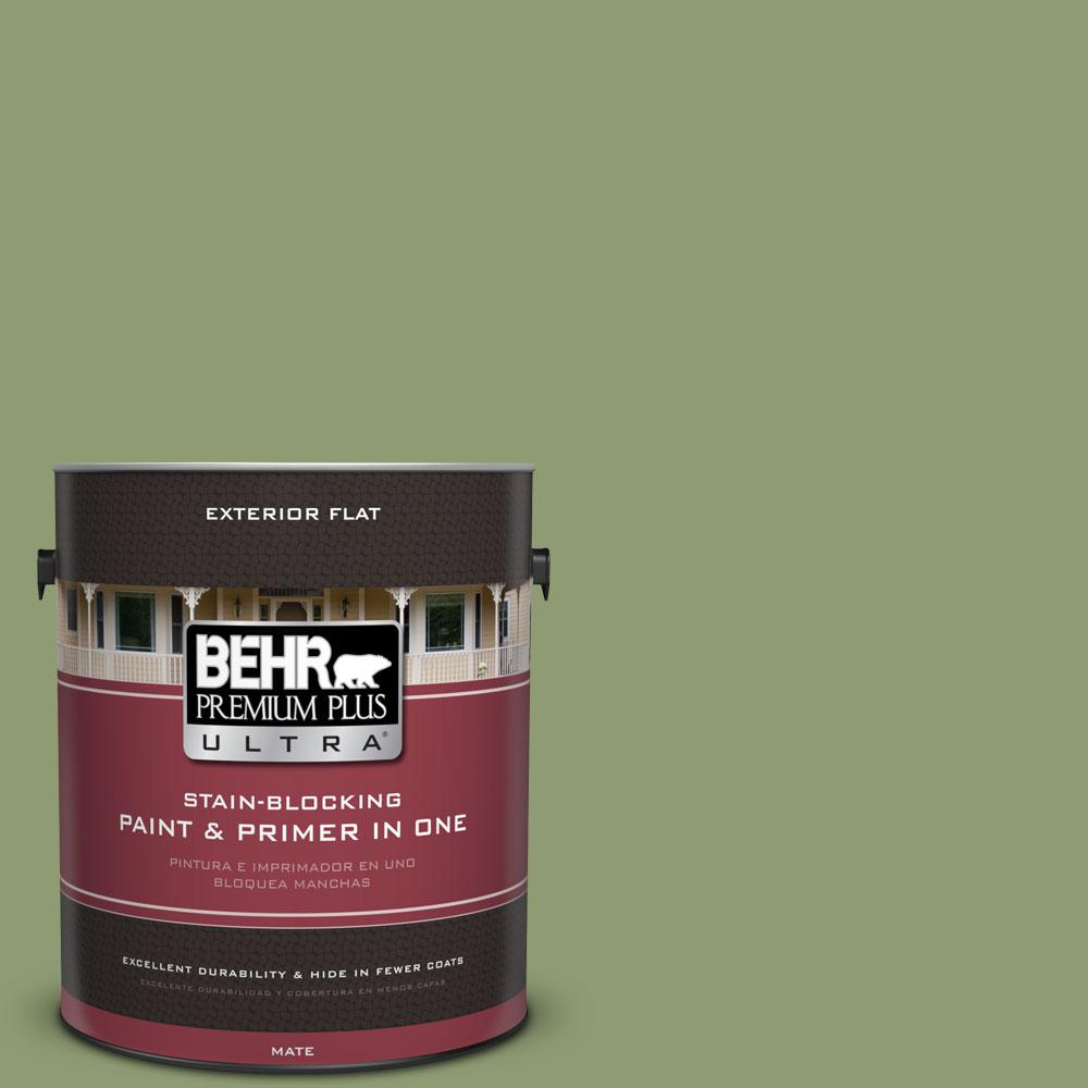 BEHR Premium Plus Ultra 1-Gal. #PPU11-4 Alamosa Green Flat Exterior Paint