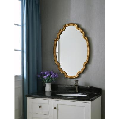 Backstage Oval Gold Vanity Wall Mirror