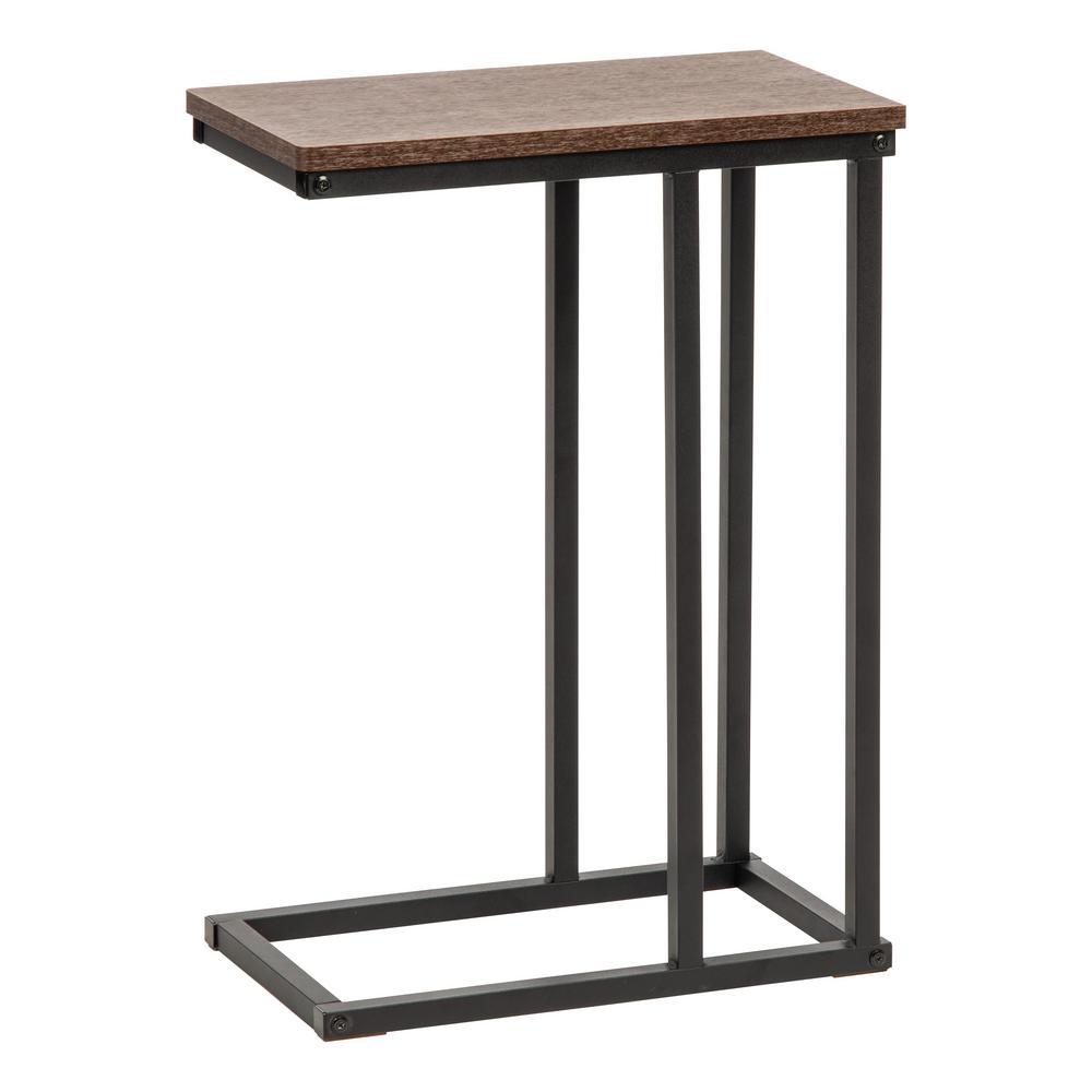 iris brown c-shaped side table-596650
