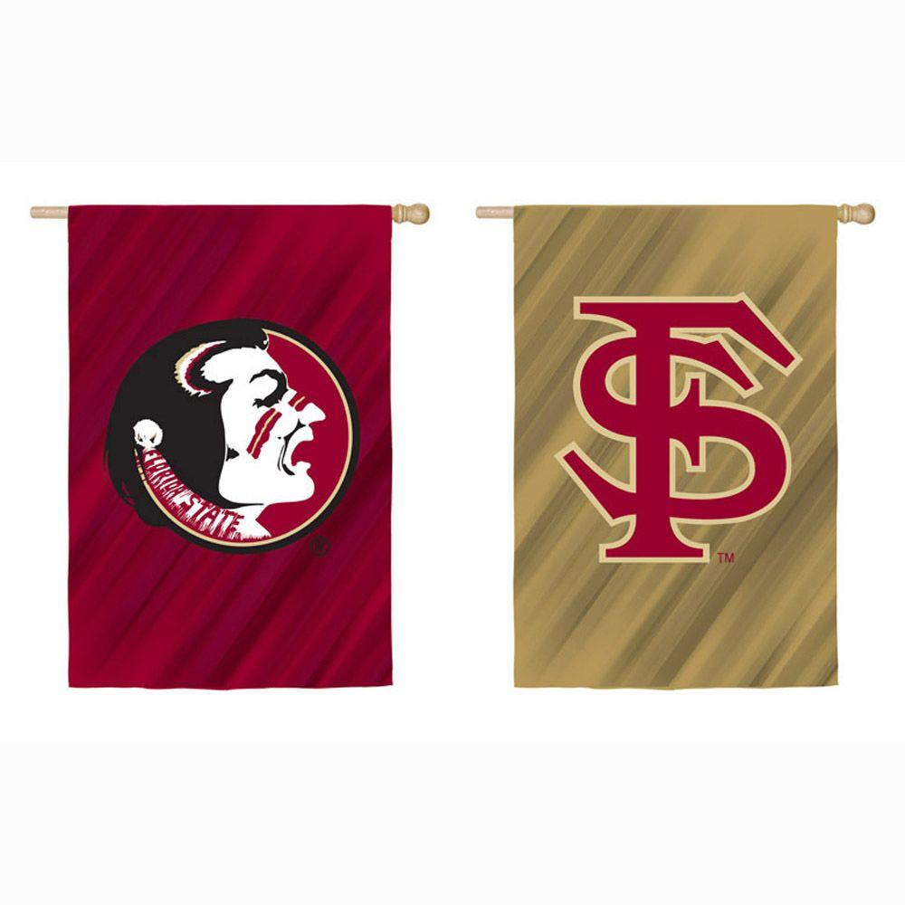 NCAA 18 in. x 12.5 in. Florida State University Suede Garden