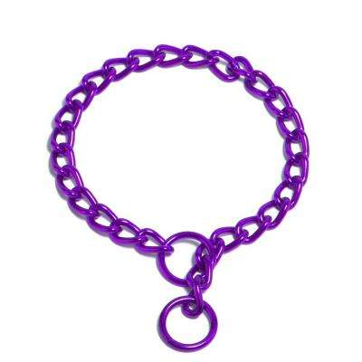 Platinum Pets 18 in. x 3 mm Chain Training Collar, Electric Purple