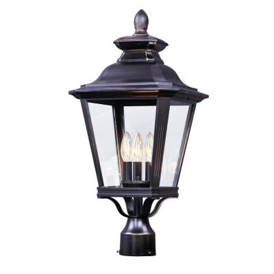 Knoxville 11 in. Wide 3-Light Outdoor Bronze Post Light