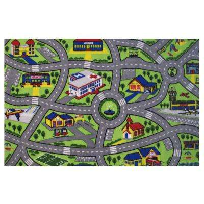 Fun Time Driving Fun Multi 2 ft. x 2 ft. Area Rug