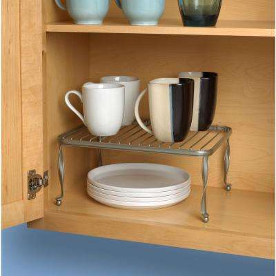 Taylor 5.75 in. x 12.5 in. x 9.5 in. Steel Cabinet Shelf in Satin Nickel