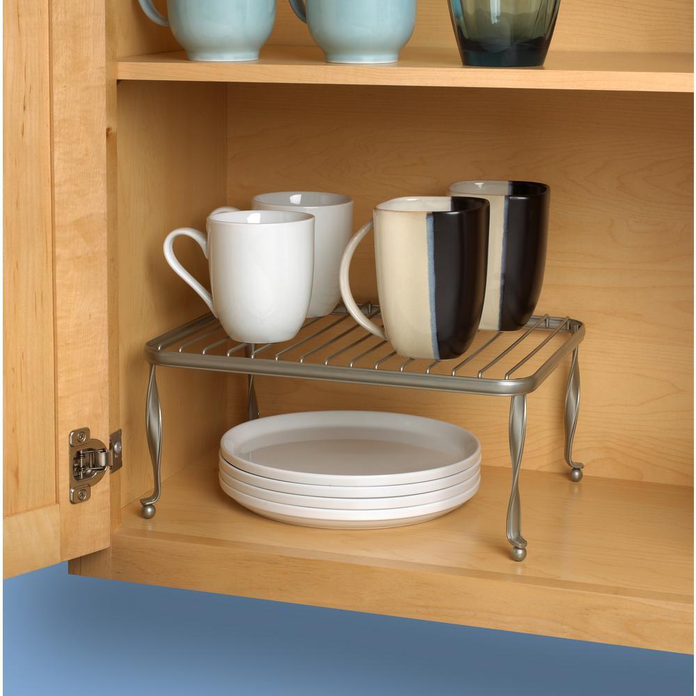 Taylor 5.75 in. x 12.5 in. x 9.5 in. Steel Cabinet Shelf in Satin Nickel