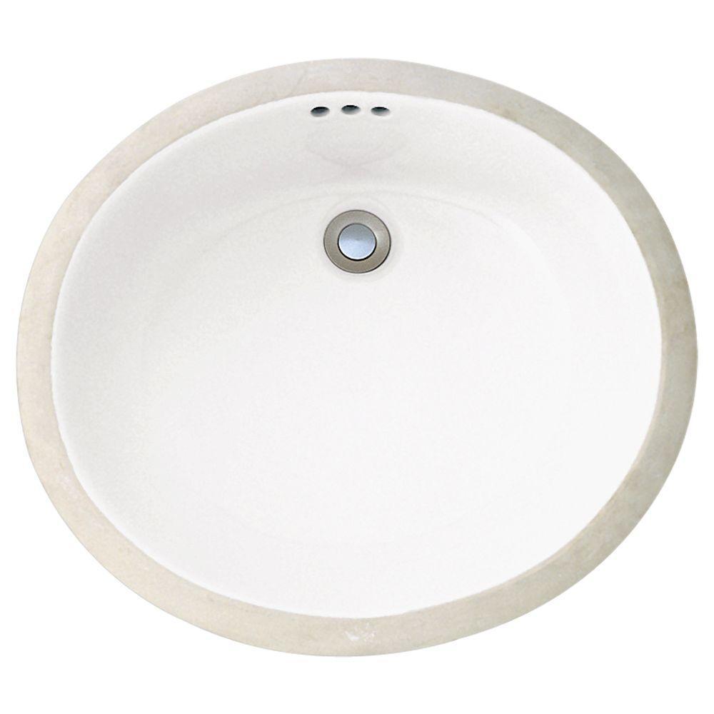 Porcher Prescott Undermount Bathroom Sink in White-DISCONTINUED