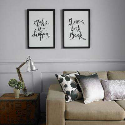 """20 in. x 28 in. """"Never Look Back"""" Printed Framed Wall Art"""