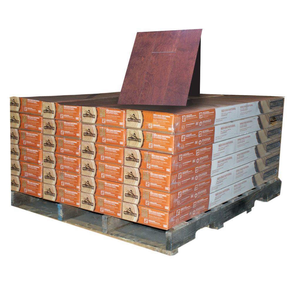 Millstead Birch Cognac 3/8 in. Thick x 4-1/4 in. Wide x Random Length Engineered Click Wood Flooring (480 sq. ft. / pallet)