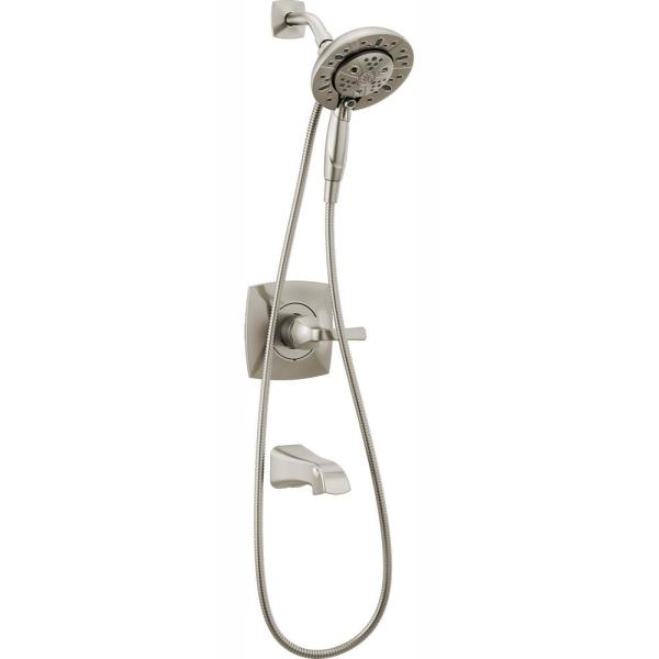 Vesna In2ition 2-in-1 Single-Handle 5-Spray Tub and Shower Faucet in SpotShield Brushed Nickel (Valve Included)