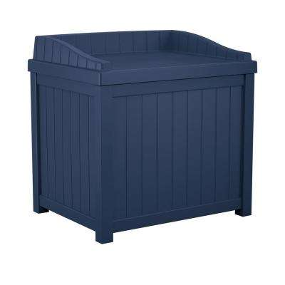 22 Gal. Navy Blue Small Storage Seat Deck Box