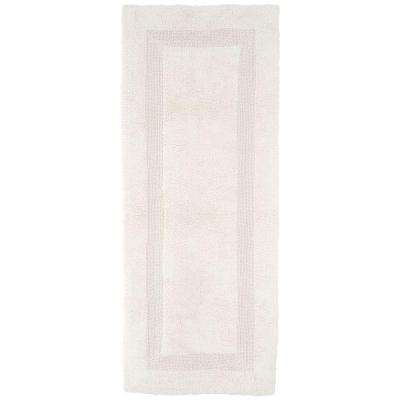 Ivory 2 ft. x 5 ft. Cotton Reversible Extra Long Bath Rug Runner
