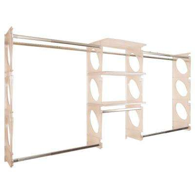 Urban Luxury 6 ft. to 8 ft. Frost Closet Shelving Kit