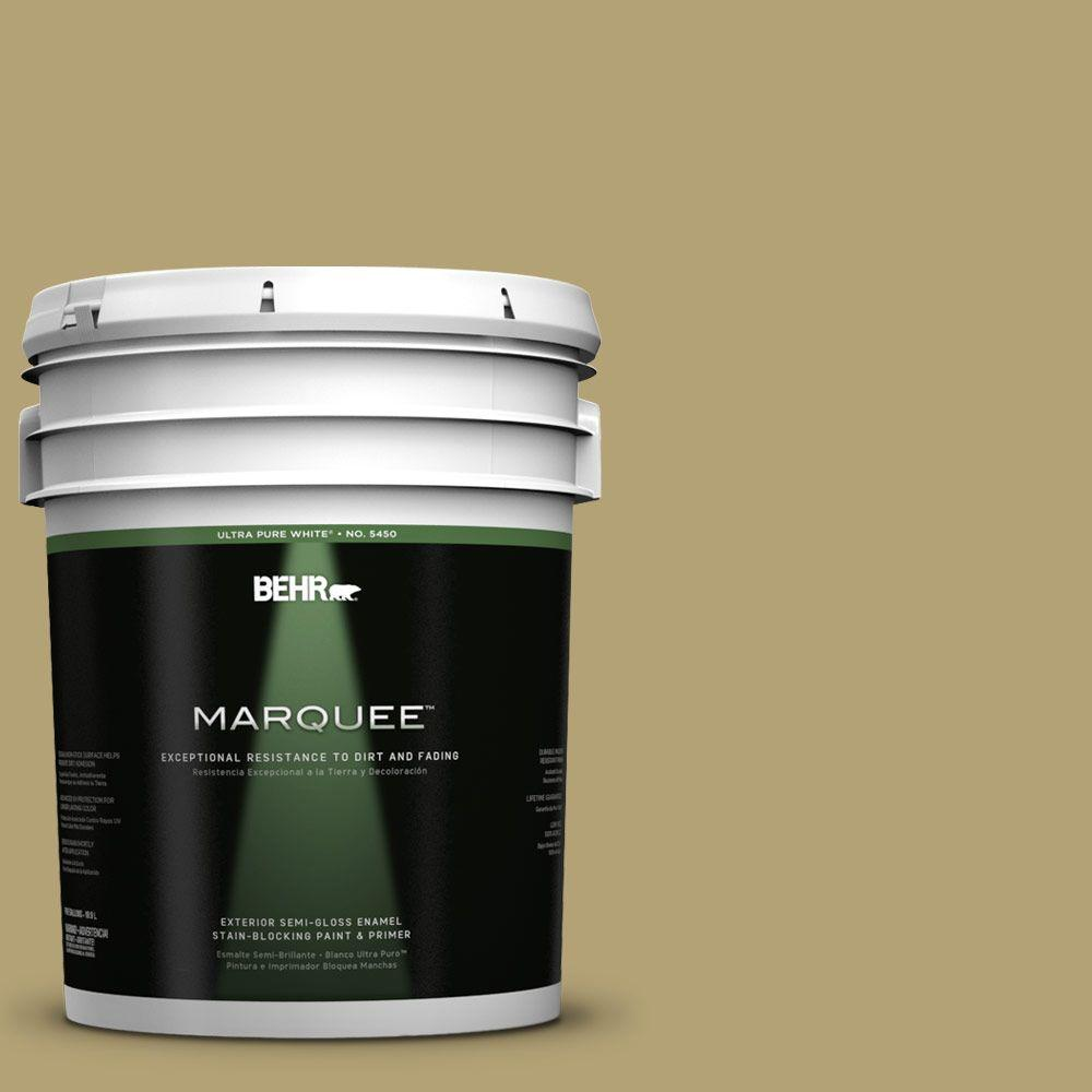BEHR MARQUEE 5-gal. #PMD-101 Green Fig Semi-Gloss Enamel Exterior Paint