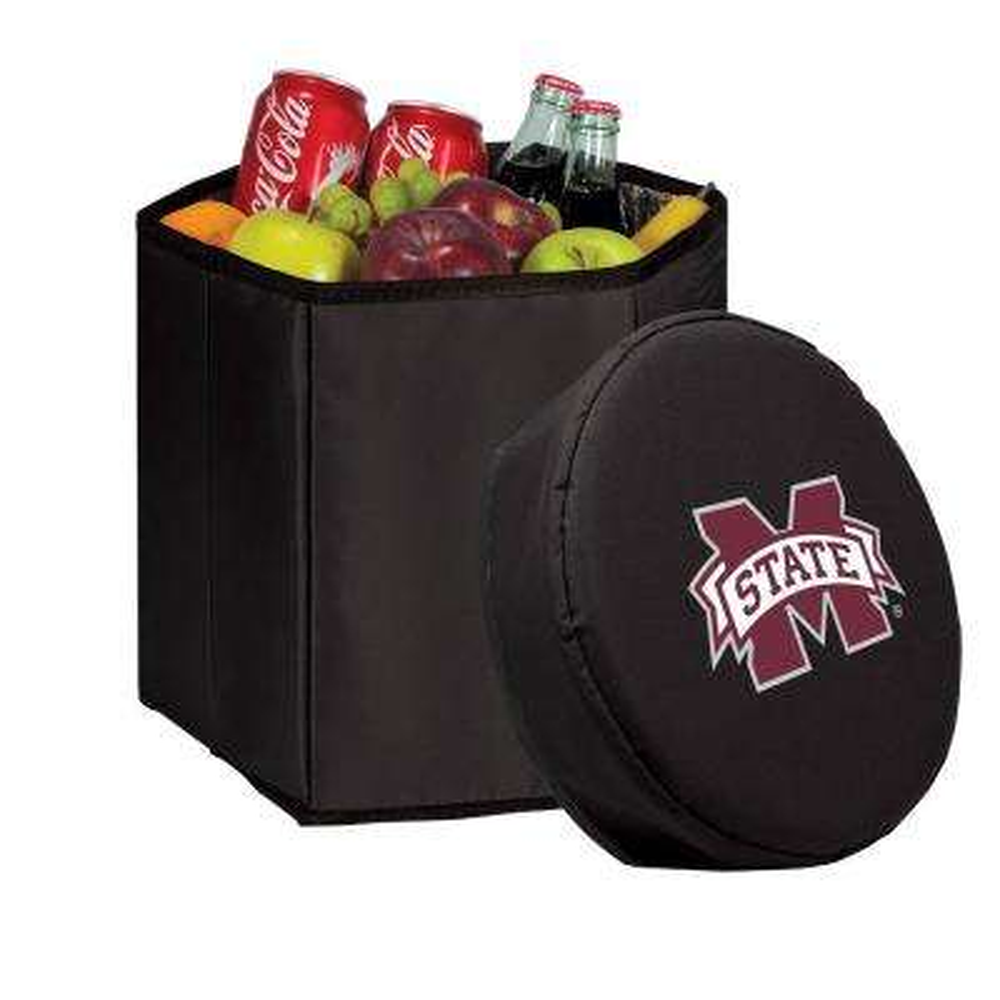 12 Qt. Mississippi State Bulldogs Black Bongo Cooler