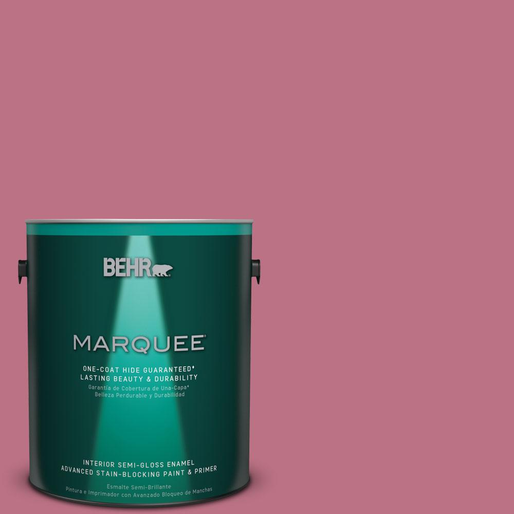 1 gal. #MQ1-8 Smell the Roses One-Coat Hide Semi-Gloss Enamel Interior