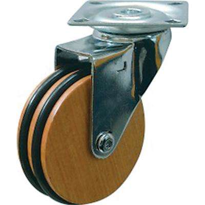 3 in. Beech Wood Swivel Caster with 100 lbs. Load Capacity (4-Pack)
