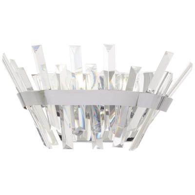 Echo Radiance 2-Light Chrome Bath Light with Clear Glass