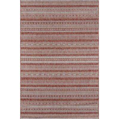Tuscany Copper 5 ft. 3 in. x 7 ft. 6 in. Indoor/Outdoor Area Rug