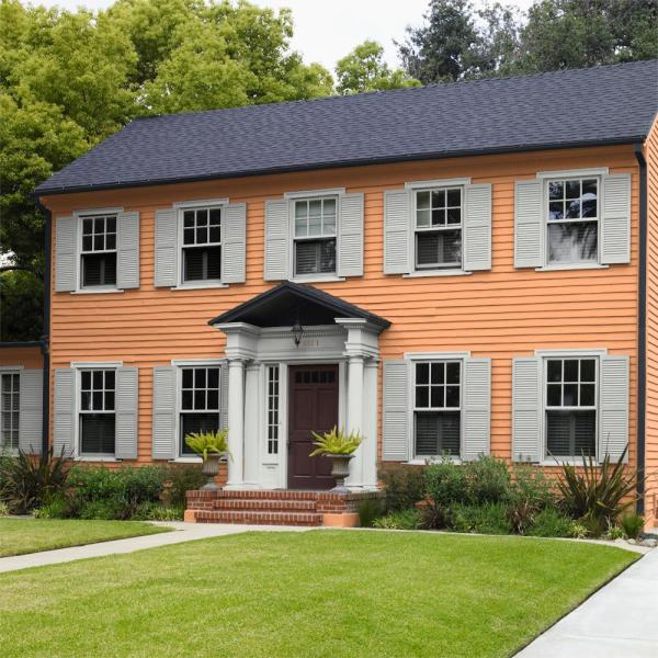 Reviews For Behr Marquee 5 Gal Home Decorators Collection Hdc Sp16 04 Apricot Jam Flat Exterior Paint Primer 445405 The Home Depot