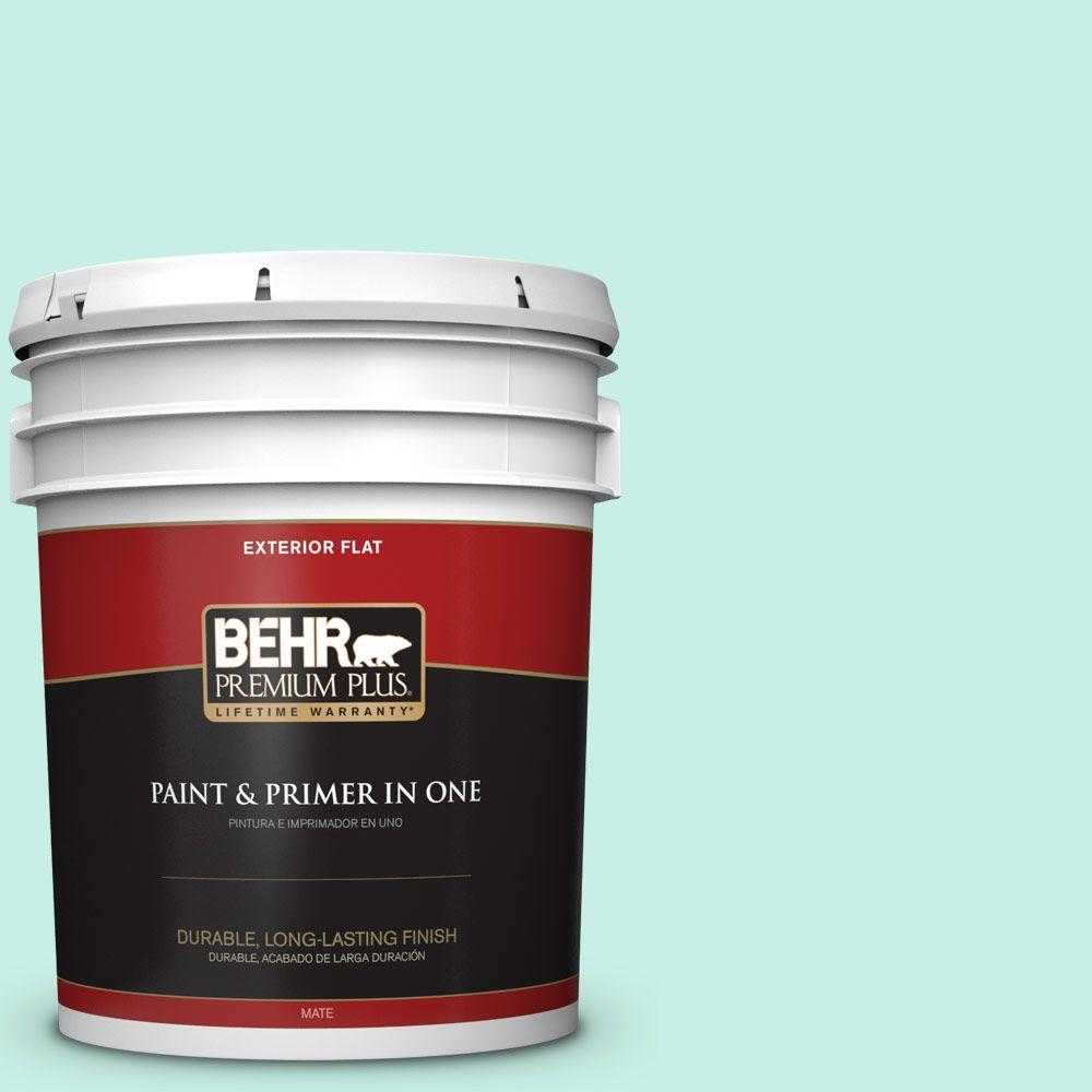 BEHR Premium Plus 5-gal. #P430-1 Summer House Flat Exterior Paint
