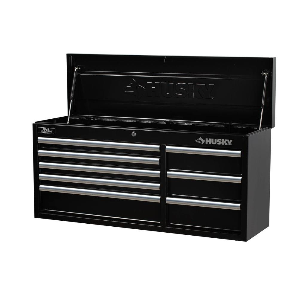 Husky 41 in. 8-Drawer Tool Chest, Black-HTC408BDLX12 - The Home Depot