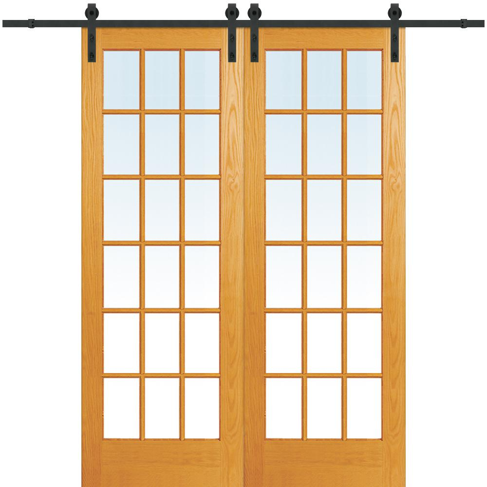 Mmi Door 64 In X 96 In Clear True Divided 18 Lite Unfinished Pine