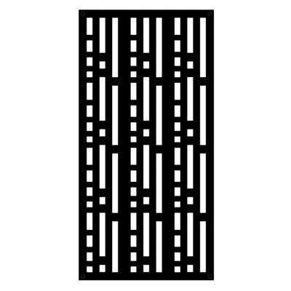 Morse 4 ft. x 2 ft. Black Polymer Decorative Screen Panel