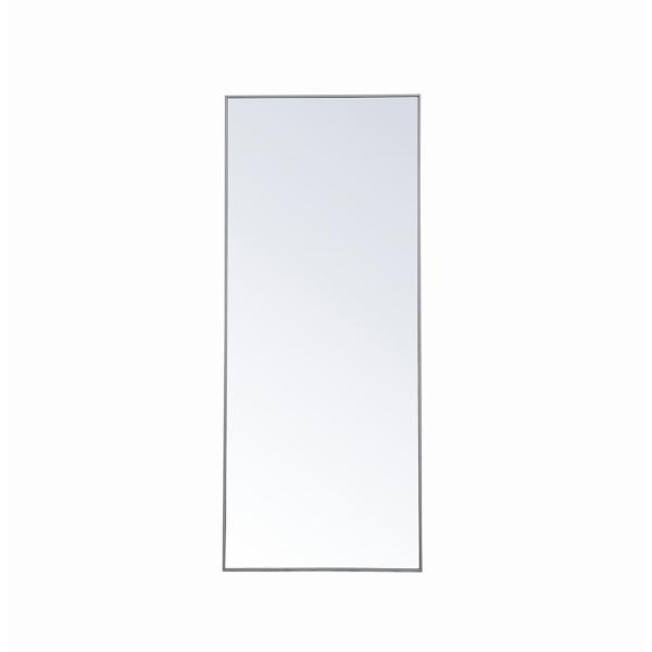 Oversized Rectangle Grey Modern Mirror (72 in. H x 30 in. W)
