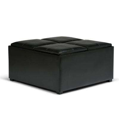 Avalon Midnight Black Coffee Table Storage Ottoman