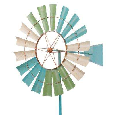 32 in. Kinetic Stake  Coastal Windmill