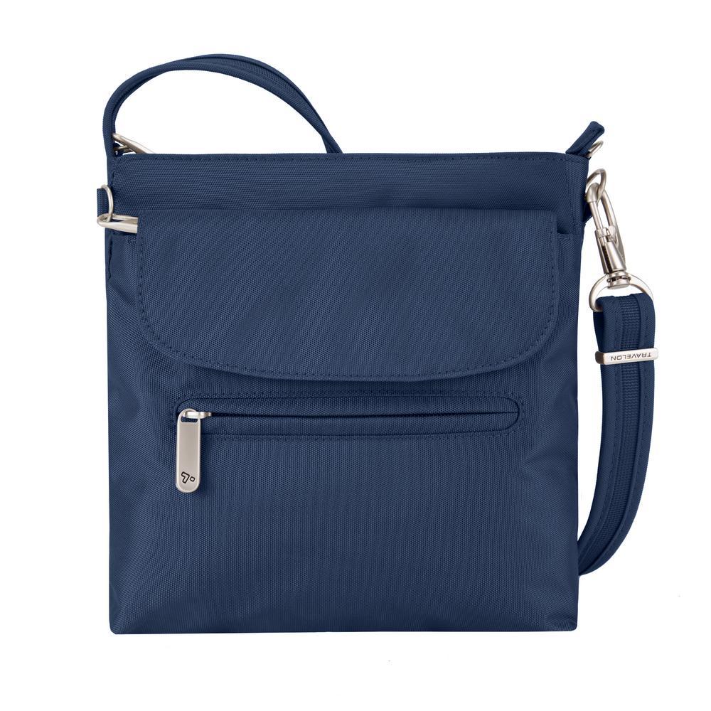 7aca1fbb50 Travelon Midnight Anti-Theft Mini Shoulder Bag-42459-360 - The Home Depot