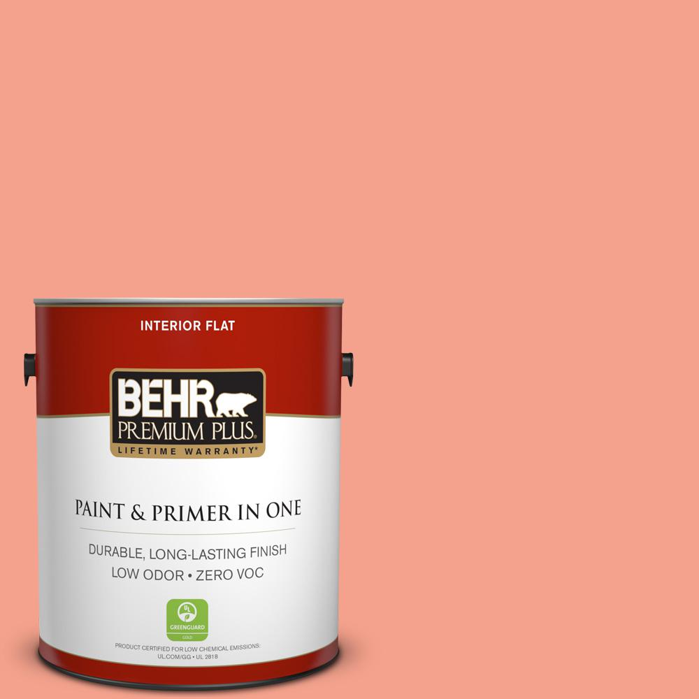 BEHR Premium Plus Home Decorators Collection 1-gal. #HDC-MD-18 Peach Mimosa Zero VOC Flat Interior Paint