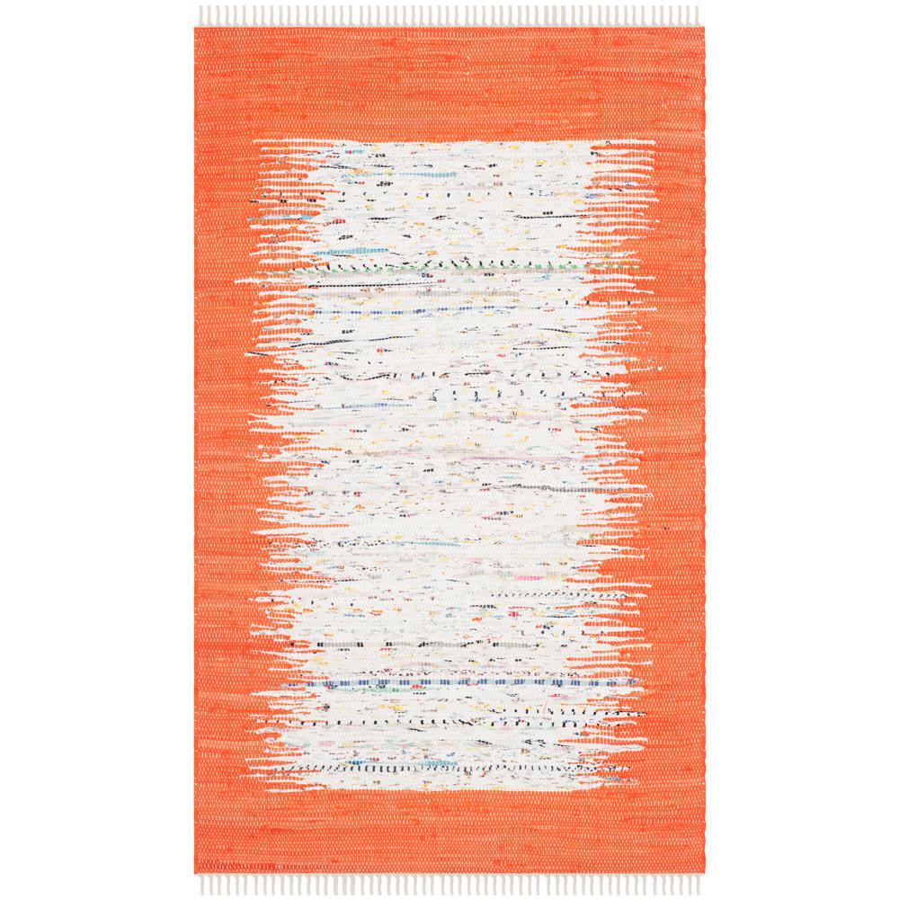 Montauk Ivory/Orange 3 ft. x 5 ft. Area Rug
